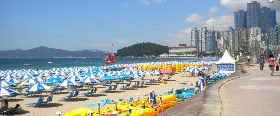 Haeundae strand Busan