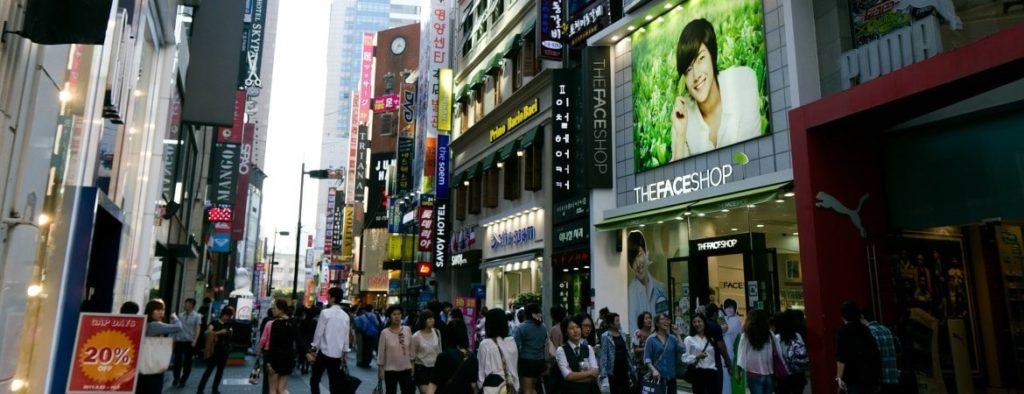 Myeongdong district in Seoul