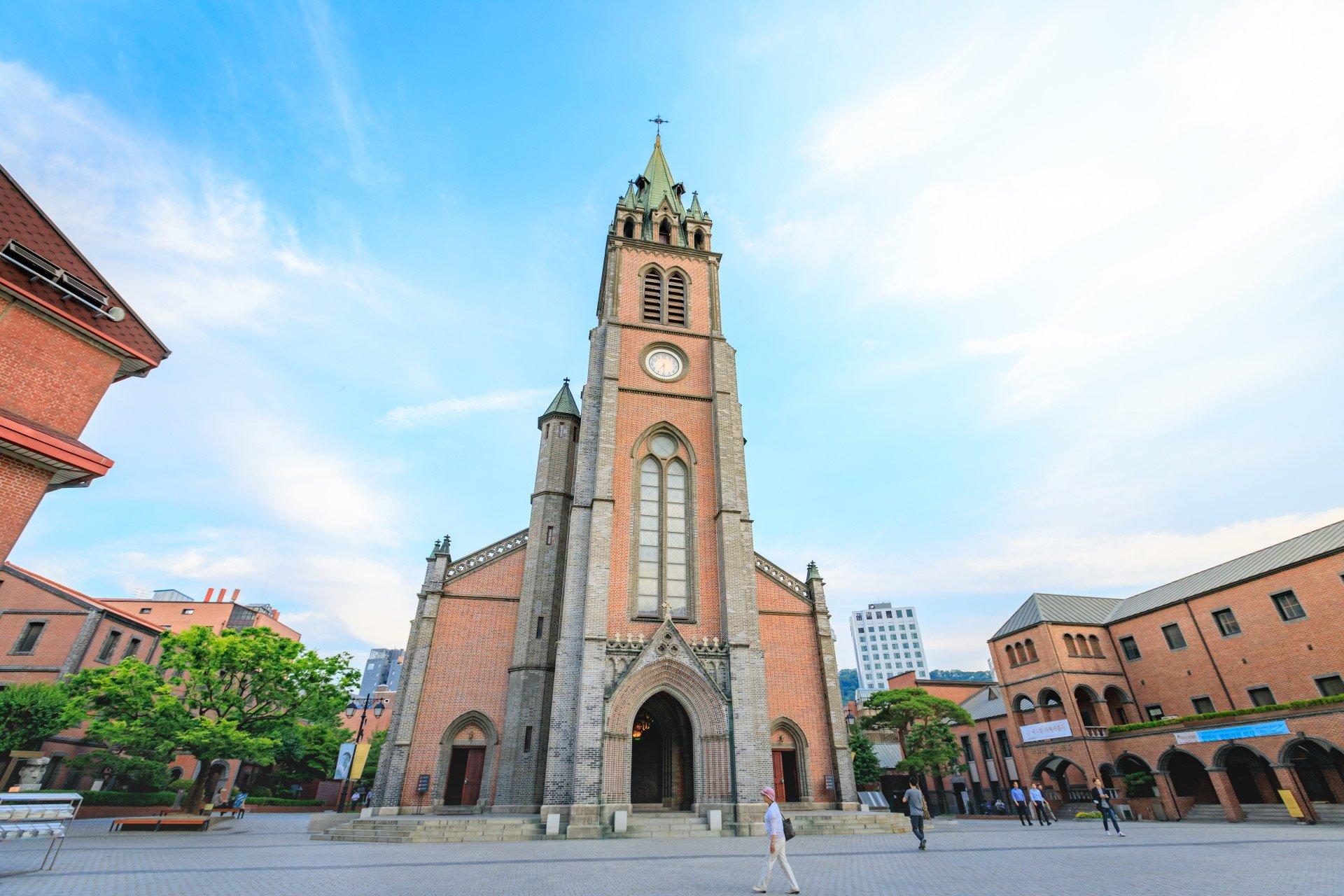 Myeongdong kerk in Seoul
